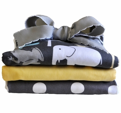 New Arrivals Urban Zoo Burp Cloth Set