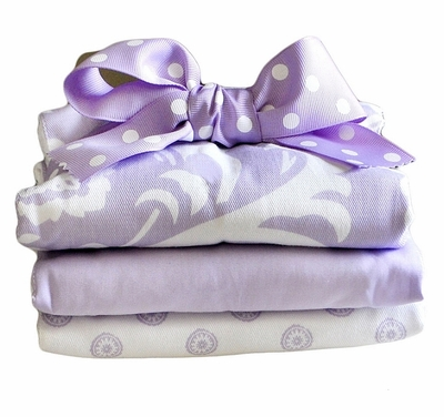 New Arrivals Sweet Violet Burp Cloth Set
