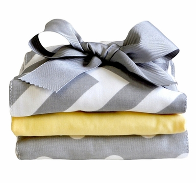 New Arrivals Zig Zag Baby in Yellow Burp Cloth Set