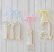 Small Wooden Hanging Letters by New Arrivals