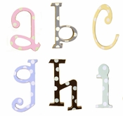 "New Arrivals 5"" Wooden Polka Dot Nursery Letters"