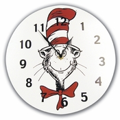Dr. Seuss Cat in the Hat Wall Clock