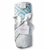 Swaddle Designs Hooded Towel Pastel Blue Squares