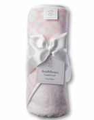 Swaddle Designs Hooded Towel Pastel Pink Squares
