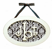 New Arrivals Oval Monogram Plaque