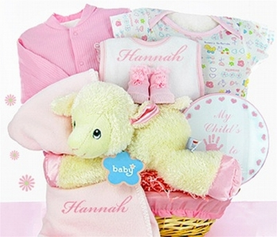 Lamby Nap Time Baby Girl Gift Basket