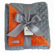 Meg Original Orange & Gray Minky Blanket