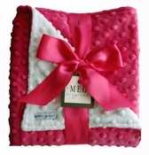 Meg Original Hot Pink & White Minky Blanket