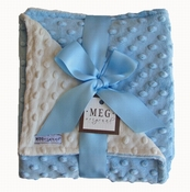 Meg Original Blue & Vanilla Blanket