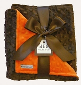 Meg Original Orange & Brown Minky Blanket