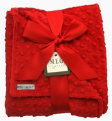 Meg Original Red Minky Dot Blanket