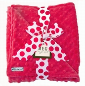 Meg Original Hot Pink Minky Blanket