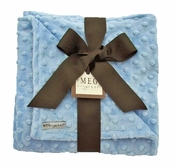 Meg Original Baby Blue Minky Dot Blanket