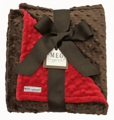 Meg Original Red & Brown Minky Blanket