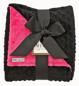 Meg Original Hot Pink & Black Minky Blanket