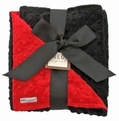 Meg Original Red & Black Minky Blanket