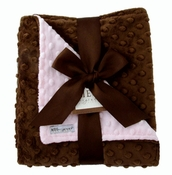 Meg Original Pink & Brown Minky Blanket