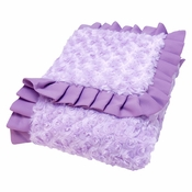 Trend Lab Lilac and Plum Swirl Velour Receiving Blanket