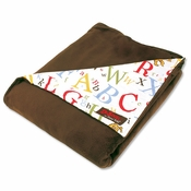 Dr. Seuss ABC Brown Velour Blanket by Trend Lab