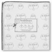 SwaddleDesigns - Ultimate Receiving Blanket - Sterling Owls