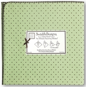 SwaddleDesigns - Ultimate Receiving Blanket - Lime with Brown Dots