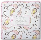 Ultimate Swaddle Receiving Blanket Triplets Paisley Pastel Pink