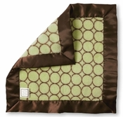 SwaddleDesigns Baby Lovie Lime w/Brown Mod Circles