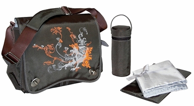 Sam's Messenger Bag by Kalencom - Chocolate Dragon