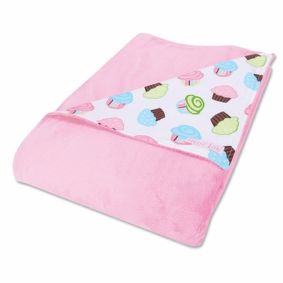 Trend Lab Cupcake Print Receiving Blanket