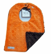 Meg Original Orange & Brown Minky Bib