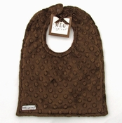 Meg Original Chocolate Minky Dot Bib
