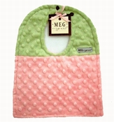 Meg Original Pink & Green Minky Dot Bib