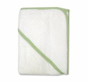 Trend LabTerry Hooded Towel w/Sage Gingham Trim