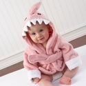 """Let the Fin Begin"" Pink Shark Robe"