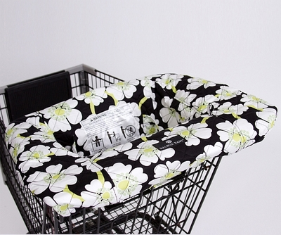 Balboa Baby Shopping Cart/High Chair Cover Lime Poppy