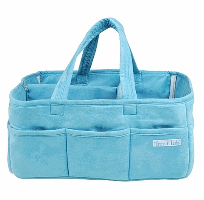 Turquoise Ultrasuede Storage Caddy
