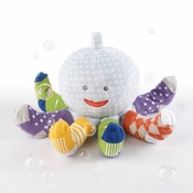"""""""Mr. Sock T. Pus"""" Plush Octopus with 4 Pairs of Socks Blue"""