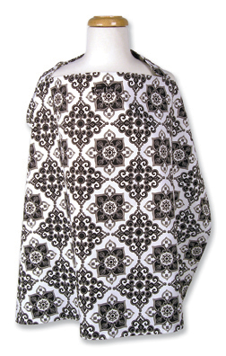 Trend Lab Nursing Cover -  Versailles Black & White