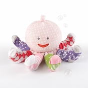 """Mrs. Sock T. Pus"" Plush Octopus with 4 Pairs of Socks Pink"