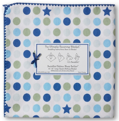 Ultimate Swaddle Dots & Stars Navy