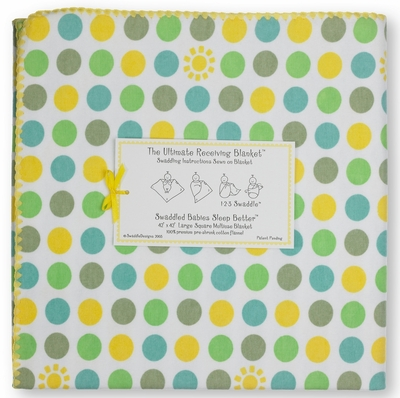 Ultimate Swaddle Receiving Blanket Dots and Suns Yellow