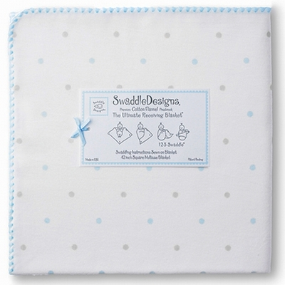 Ultimate Swaddle Sterling Little Dots Pastel Blue