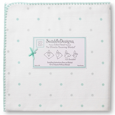 Ultimate Swaddle Sterling Little Dots Sea Crystal