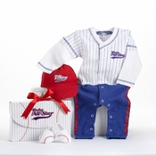 """Big Dreamzzz"" Baby Baseball Three-Piece Layette Set in All-Star Gift Box"