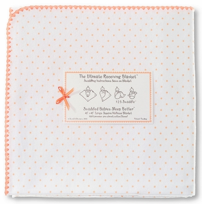 SwaddleDesigns - Ultimate Receiving Blanket - Orange