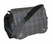 Sam's Messenger Bag by Kalencom Grey Plaid