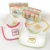 """Animal Crackers for Messy Snackers"" 4-Piece Bib Set"