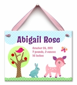 Forest Friends Wall Tile - Girl