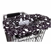 Balboa Baby Shopping Cart/High Chair Cover Black and White Leaf