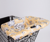 Balboa Baby Shopping Cart/High Chair Cover Yellow Floral
